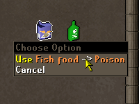 Usar Fish Food con el Veneno